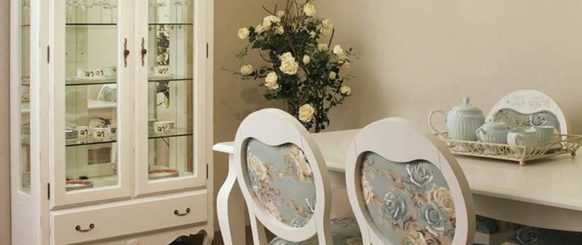 Sala De Jantar Moveis Itatiba ~ Sala de Estar Provençal para deixar a sua casa um encanto, com mesa